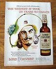 1948 VINTAGE MEN DISTINCTION LORD CALVERT PRINT AD