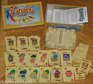 Deluxe Official Canasta Caliente Card Game rotating tray Bilingual