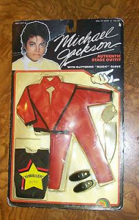 84 MICHAEL JACKSON GRAMMY THRILLER DOLL OUTFIT  VINTAGE  M.O.C