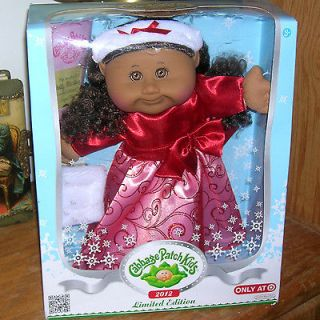 NEW Cabbage Patch Kid Holiday Red dress brown hair eyes limited