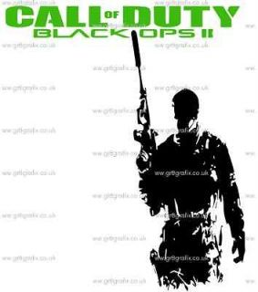 CALL OF DUTY BLACK OPs 11 WALL ART STICKERS XBOX PS3 GAMING IMAGES 1