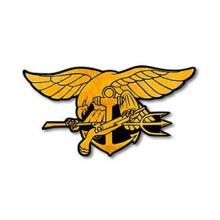 US Navy Seal Trident plasma cut metal sign 22x14