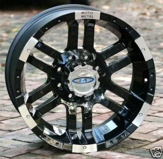 17 inch Black Wheels/Rims MOTO METAL 951 FORD f250 f350 trucks 8 lug