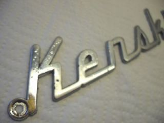 Vintage KENSKILL Travel Trailer Chrome EMBLEM Tag Nameplate Badge