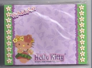 Sanrio Hello Kitty Sticky Notes Hawaii Plumeria Border
