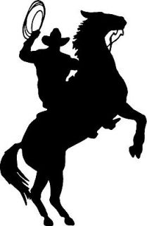 COWBOY HORSE RIDER WESTERN WALL DECAL HOME DECOR SILHOUETTE LARGE 20