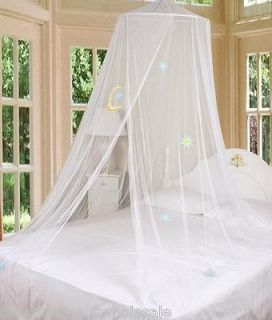 Bed Canopy Mosquito Netting with Hook White Good Night