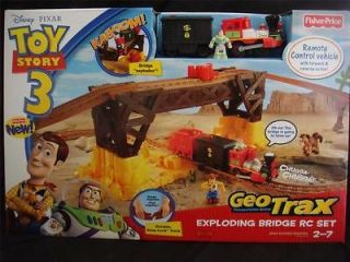 NEW IN BOX FISHER PRICE GEOTRAX DISNEY TOY STORY EXPLODING BRIDGE