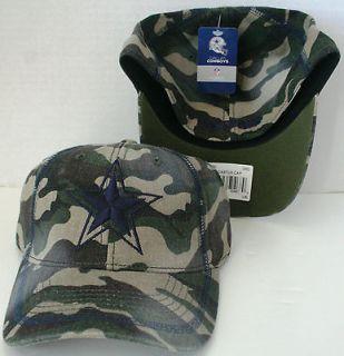 Dallas COWBOYS Camo CAP HAT FLEX FIT LG/XL NFL OFFICIALLY LICENSED