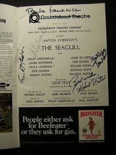 1974 Philip Campanella Paula Laurence The Seagull Signed Theatre