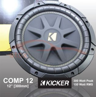 NEW C124 Kicker Comp 12 Car Audio Subwoofer 4 ohms 300 watts Bass