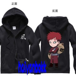 Anime Naruto Clothing Cute Gaara Hooded Sweatshirt Cosplay Hoodie