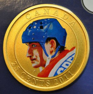 2011 Canada 25 cent Coloured Coin   Wayne Gretzky