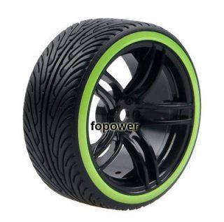 Hard Tires Tyre Wheel Rim Fit HSP HPI 1:10 On Road Drift Car 9065 5010