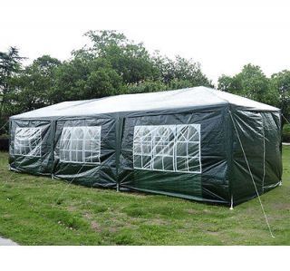 Outdoor 10x30 Gazebo Wedding Canopy Party Tent Deep Green With 8 Walls