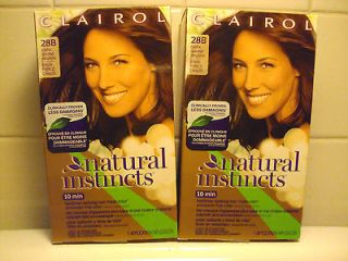 CLAIROL NATURAL INSTINCTS HAIR COLOR, DARK WARM BROWN, #28B, NIB