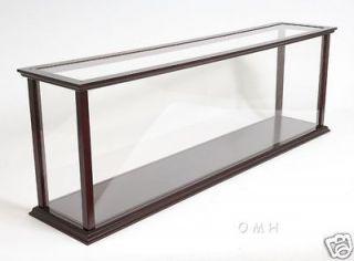 Wooden Table Top Ship Model Display Case Ocean Liner