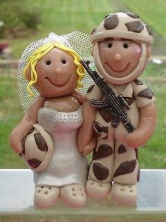 Military Wedding Cake Toppers   Personalised Jillybeans cake toppers