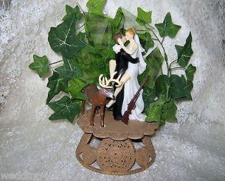 REDNECK SEXY BRIDE WEDDING BUCK DEER HUNTER HUNTING CUSTOM CAKE TOPPER