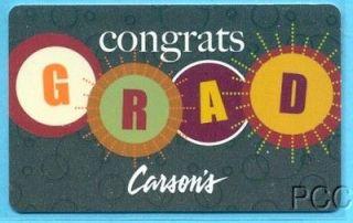 CARSONS Congrats Grad 2012 Gift Card