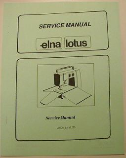 Newly listed Elna Lotus Sewing Machine Service Manual Model 25 Zigzag