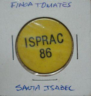 ISPRAC Agricultural Token Israel Puerto Rico 1980s Santa Isabel 1