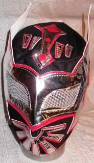 WWE Sin Cara Youth Size Black, Silver & Red Wrestling MASK