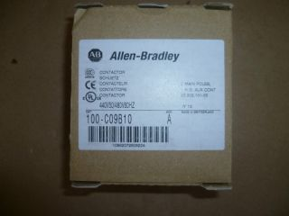 ALLEN BRADLEY CONTACTOR CAT # 100 C09B10 , NEW