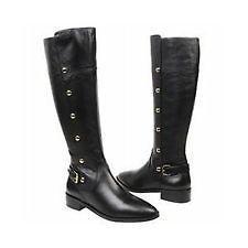 New Michael Kors Carney Riding Flat Knee High Boots Shoes 5.5 Black
