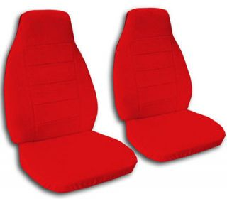 NICE FRONT SET OF CAR SEAT COVERS IN SOLID RED IN CANVAS