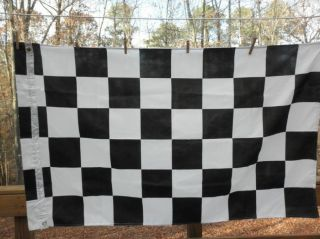 Black and White Checkered Flag 3 X 5 Race Fans NASCAR
