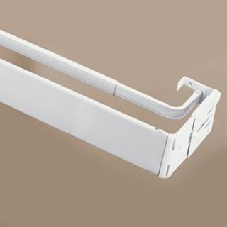 Graber 2 1 2 Inch Wide Dauphine Curtain Rod Brackets 6 To 8 1 2 Inch Projection White 1 Pair