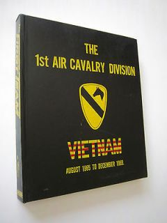 1970 First 1st Air Cavalry Division Memiors August 1965   December