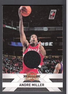 Andre Miller 2010 11 Panini Threads Jerseys Game Worn Jersey Card #70