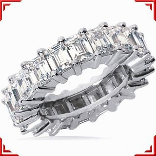 78 carat Emerald Cut DIAMOND Eternity Band, 14K Gold RING 24 x 0.16