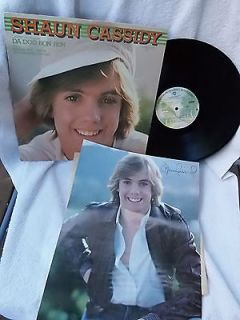 Shaun Cassidy Self Titled with POSTER Da Doo Ron 1977 LP Vinyl VG