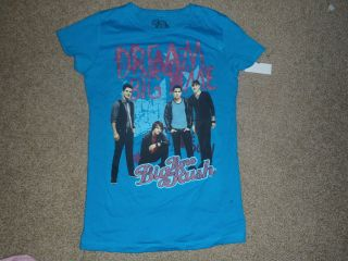 BIG TIME RUSH BLUE T SHIRT NEW WITH TAGS CARLOS KENDALL JAMES LOGIN