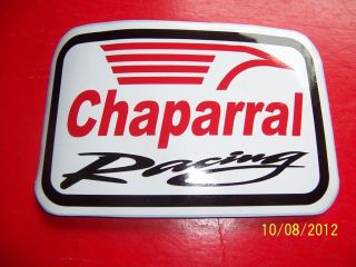 NEW Vinyl) Chaparral Racing (Red, Black and White Vinyl
