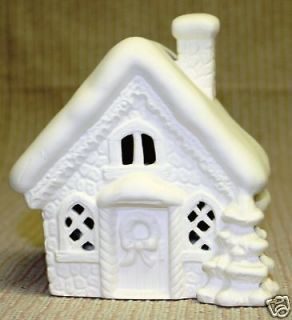 Ceramic bisque bird house planter candle holder anns 762 u for Ceramic house paint