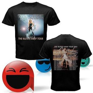 NEW CARRIE UNDERWOOD THE BLOWN AWAY TOUR 2012 TWO SIDE BLACK SHIRT S,M