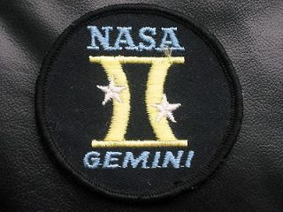 NASA GEMINI II EMBROIDERED SEW ON ONLY PATCH NASA