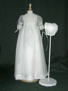 Celeste Christening Gown and Bonnet by Day Dream Heirlooms 3m 12 lbs