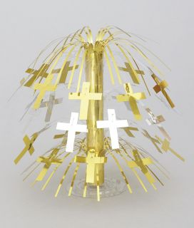 Gold Cross cascade CENTREPIECE communion confirmation christening