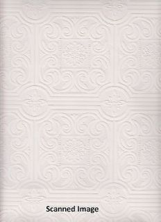 Paintable Wallpaper/ Textured Small Tile Paintable Sidewall / White