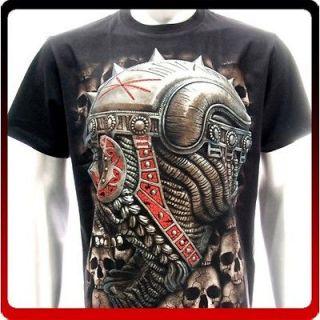 sc48 Survivor Chang T shirt Sz M Tattoo Glow in Dark Skull Robot Heavy