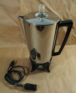 SPEED SS 2 8CUP AUTO ELECTRIC PERCOLATOR COFFEE MAKER #PK01B 815W