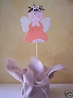 Little Angel Girl Centerpiece Baptism or Baby Shower