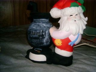 christmas decorations ceramic Santa and stove