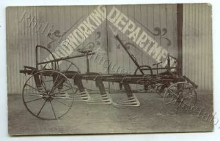 C1910 RP ADV POSTCARD EAST BROS MALLALA HORSE DRAWN STUMP JUMP PLOUGH