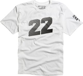 Shift MX Racing Chad Reed Tee White Two Two Motorsports No Sponsors 22
